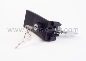 Boot lock with key in black plastic f126